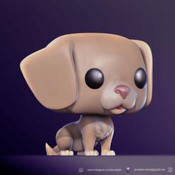 render PS.png Download STL file FUNKO POP DOG (CUSTOM PET'S) • 3D printable model, jscatalan