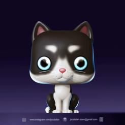 render gatuno PS.png Download STL file Funko POP CAT (custom Pet's) • 3D printing object, jscatalan