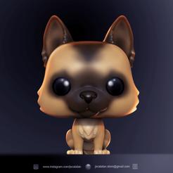 render orejon punta PSs.png Download STL file FUNKO POP DOG (CUSTOM PET'S) • 3D printable model, jscatalan