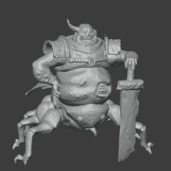 NurgleDP.png Download STL file Demon prince of nurgle with wings • 3D printing model, meusoleg
