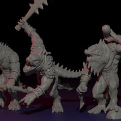 3DVIEW~2.png Download STL file Lizards Wargame Figure • 3D printer template, cargam2