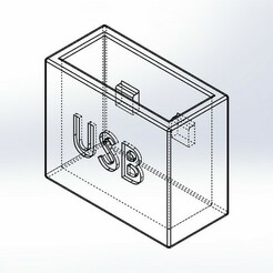 usb male.JPG Download free STL file Male usb protection • 3D printing template, memo1402