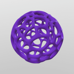 v01.png Download free OBJ file Wireframe Voronoi Sphere • 3D printing object, ducalis