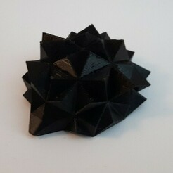 "hedgehog4.jpg Download STL file Low polycount hedgehog called ""Piksie"" • 3D print model, Papiertier"