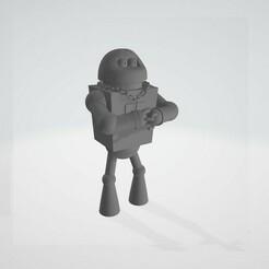 joey1.jpg Download free STL file Futurama Robot Mafia Joey • 3D printer object, Papiertier