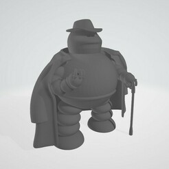 donbot.jpg Download free STL file Futurama Robot Mafia Donbot • 3D printable model, Papiertier