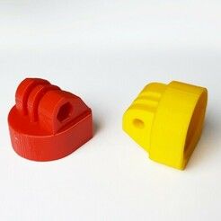 actioncam_PET_bottlemount_3.jpg Download STL file Actioncam Bottle Cap Mount  • Model to 3D print, Papiertier