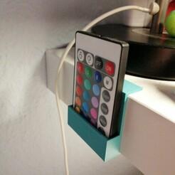 14.jpg Télécharger fichier STL Support de télécommande pour IKEA Lack • Objet pour imprimante 3D, flomake