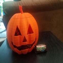 20191010_103945.jpg Download free STL file Jack-O-Lanter Halloween Pumpkin (Candy bowl) • 3D printing design, paulorfo