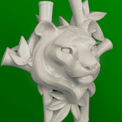 Тигр шпилька.407.png Download STL file 3Dmodel STL CNC Hairpin Tiger • 3D printable template, 3Dfor3D