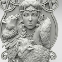 Фрея.110.jpg Download STL file Freya panel - 3D model STL • 3D printing design, 3Dfor3D