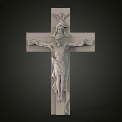 Крест католич.205.jpg Télécharger fichier STL Modèle 3D STL CNC Croix Catholique Set 1 • Plan à imprimer en 3D, 3Dfor3D