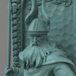 Один на троне.421.jpg Download STL file 3Dmodel STL Odin on the throne • 3D printable model, 3Dfor3D