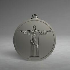 jesus.330.jpg Télécharger fichier STL Modèle 3D STL CNC Pendentif Jesus Rio de Janeiro • Objet pour impression 3D, 3Dfor3D