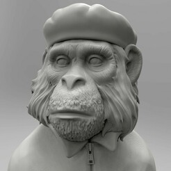 viva evolution.224.jpg Télécharger fichier STL Modèle 3D STL Figurine singe Viva La Evolution • Objet pour imprimante 3D, 3Dfor3D