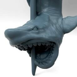 Акула клон.442.jpg Télécharger fichier STL Modèle 3D STL Pendentif requin CNC • Plan à imprimer en 3D, 3Dfor3D