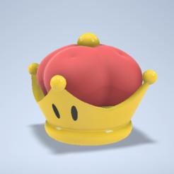 Super_Crown_1.PNG Télécharger fichier STL gratuit Super Mario - Super Couronne • Objet pour impression 3D, fox-hound64