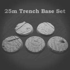 MyMiniFactoryRenders.png Télécharger fichier STL Bases de tranchées de 25 mm (soutenu) • Plan pour imprimante 3D, andynoble