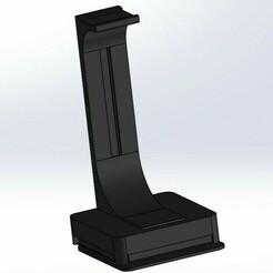 headset.jpg Download STL file Corsair Premium RGB Headset Stand 3D print model • Template to 3D print, akdo