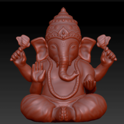 Ganesha.png Télécharger fichier STL Ganesha • Design à imprimer en 3D, Utsavkr