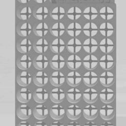 50fioles_vue de dessus.JPG Download STL file TRANSPORT RACK FOR 50 VACCINE VIALS IN A PHARMACEUTICAL BOX • 3D print template, pmtomo