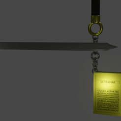 codexbooksword.png Télécharger fichier STL gratuit Livre de règles du futur soldat avec épée • Design pour imprimante 3D, Hammagg