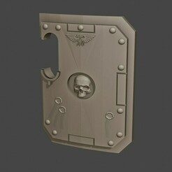 breacher.jpg Download free STL file Big Breaching Shield • 3D printable object, Hammagg