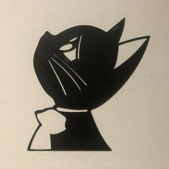 IMG_4889.jpg Download STL file Wall art, Cat, 2D, Kitty  • 3D print template, PioCza