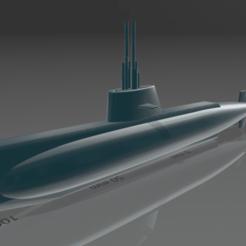 Immagine_2020-12-23_020150.png Télécharger fichier STL gratuit Sous-marin de la classe Sauro • Plan pour imprimante 3D, mbrami