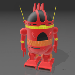 Immagine 2021-01-14 161727.png Download free STL file Analyzer robot from Starblazers/Space Battleship Yamato • 3D printing design, mbrami