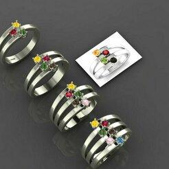 1.jpg Télécharger fichier STL 4 femmes en anneau 3dm stl rendu détail modèle d'impression 3D • Modèle imprimable en 3D, tuttodesign