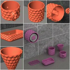 page1.jpg Télécharger fichier STL ENSEMBLE D'UNITÉS DE SALLE DE BAINS - 5 UNITÉS DE SALLE DE BAINS - IMPRIMABLE • Design pour imprimante 3D, tuttodesign