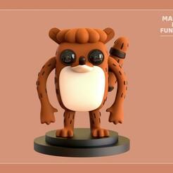 Rigby_Front_edit.jpg Download STL file Funko Rigby • 3D printer object, MakeMeFunko