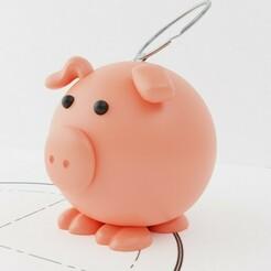 Pork3.jpg Télécharger fichier STL gratuit Porte-clé cochon • Objet pour impression 3D, MATB