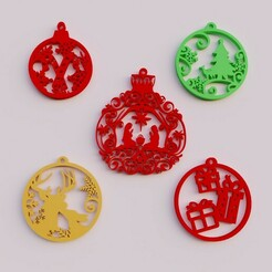 Ornaments2.jpg Download free STL file Christmas Spheres • Model to 3D print, MATB
