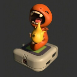 Salameche-Render-01.jpg Download STL file Salameche/Charmander - Pokemon • 3D printing object, ArtOfLA