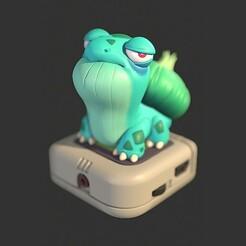 Bulbizarre-Render-01.jpg Download STL file Bulbizarre/Bulbasaur - Pokemon • 3D printer object, ArtOfLA