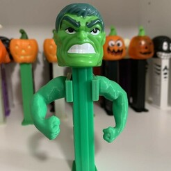Beefy Arms 1.JPG Download STL file Beefy Arms for Pez Dispenser • 3D printable template, PezMan