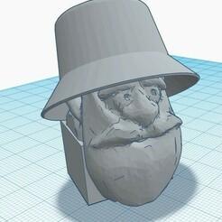 Outlaw.jpeg Download STL file Pez Outlaw Dispenser Head • 3D printer design, PezMan