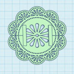 Daoily 2.PNG Download free STL file Doily Stand for Pez • 3D print design, PezMan