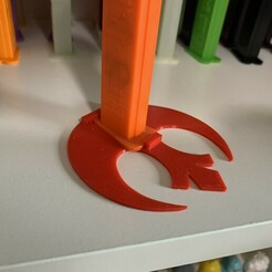 Rebel Base.JPG Download STL file Rebel Base for Footed Pez • 3D printer object, PezMan