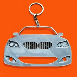 BMW E60-2.jpg Download STL file BMW E60 Front view keychain/rear-view mirror hang • 3D printable model, ioancodoban