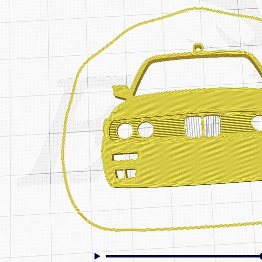 E30-3.jpg Download STL file BMW E30 Front view keychain • Template to 3D print, ioancodoban
