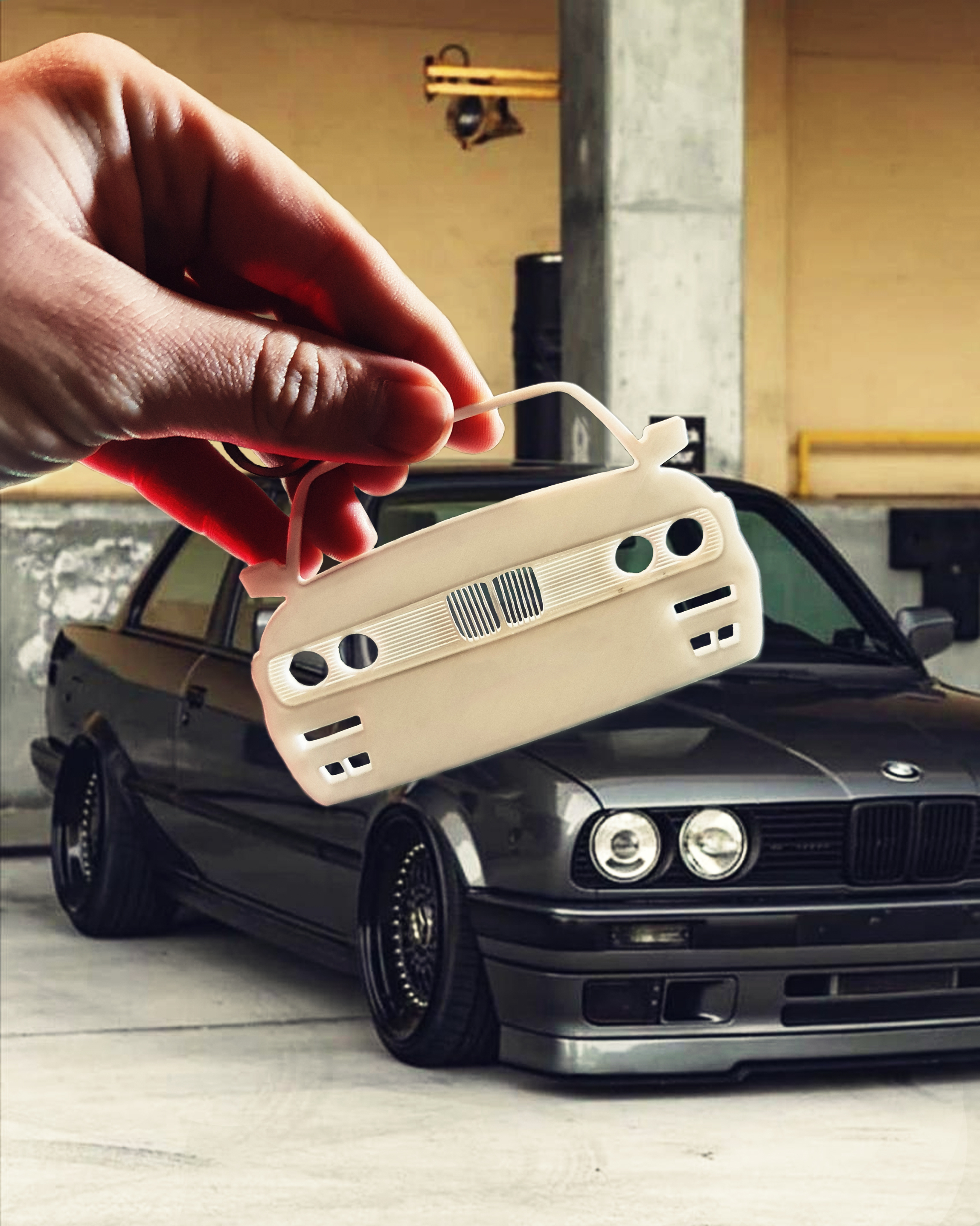 E30-2.jpg Download STL file BMW E30 Front view keychain • Template to 3D print, ioancodoban