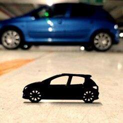 206.jpg Download STL file Peugeot 206 2000 side view keychain • 3D printable model, ioancodoban
