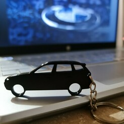 X3-2005.jpg Download STL file BMW X3 2005 side view keychain • 3D printer object, ioancodoban