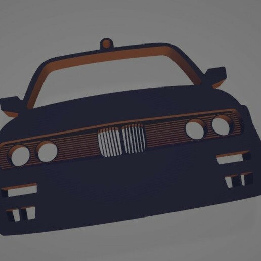 E30-4.jpg Download STL file BMW E30 Front view keychain • Template to 3D print, ioancodoban