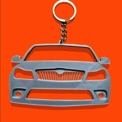 skodaoctaviamk2-1.jpg Download STL file Skoda Octavia MK2 front view keychain • 3D printer template, ioancodoban