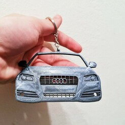 A3-2013.jpg Download STL file Audi A3 2013 front view keychain • 3D printer model, ioancodoban