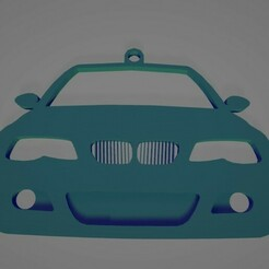 e46front-1.jpg Download STL file BMW E46 front view keychain/rear-view mirror hang • Object to 3D print, ioancodoban
